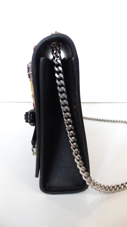 Black Saint Laurent F/W 16 Embellished Crossbody Clutch For Sale