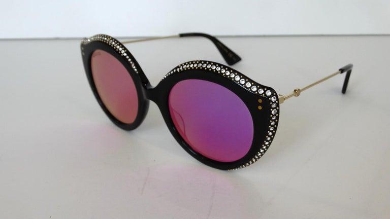 Gucci Rhinestone Cat Eye Color Shifting Sunglasses For Sale 1