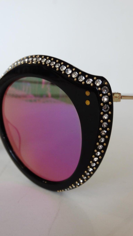 Women's Gucci Rhinestone Cat Eye Color Shifting Sunglasses For Sale