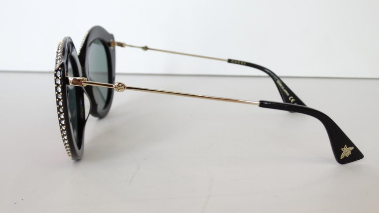 Gucci Rhinestone Cat Eye Color Shifting Sunglasses For Sale 2