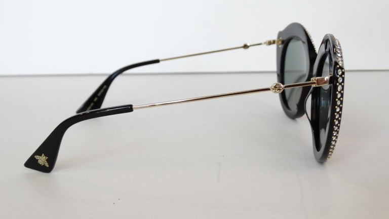 Gucci Rhinestone Cat Eye Color Shifting Sunglasses For Sale 4