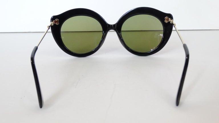 Gucci Rhinestone Cat Eye Color Shifting Sunglasses For Sale 3