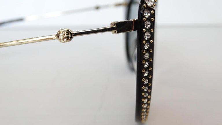Gucci Rhinestone Cat Eye Color Shifting Sunglasses For Sale 6