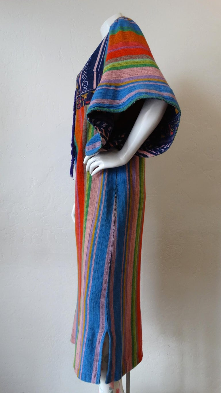 Women's 1970s Rikma Angel Sleeve Striped Dress For Sale