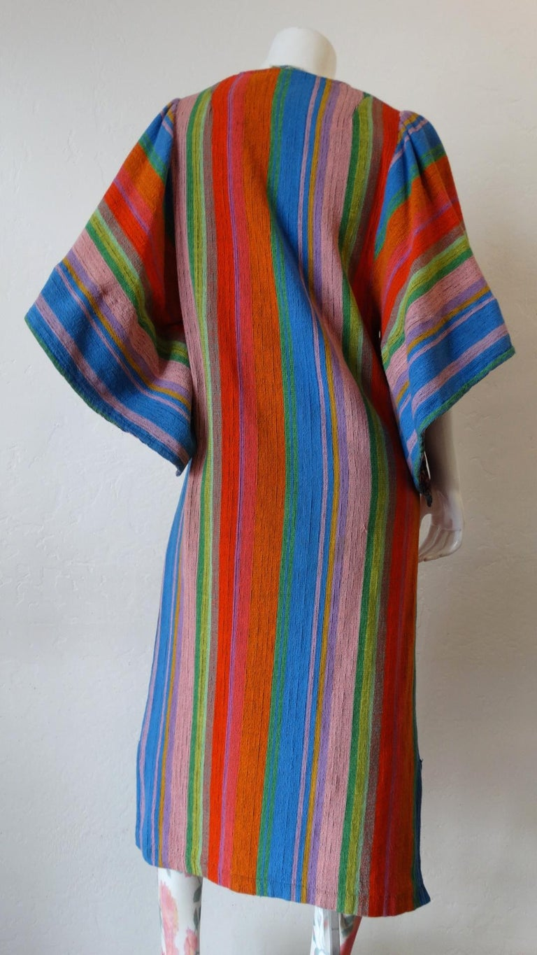 1970s Rikma Angel Sleeve Striped Dress For Sale 3