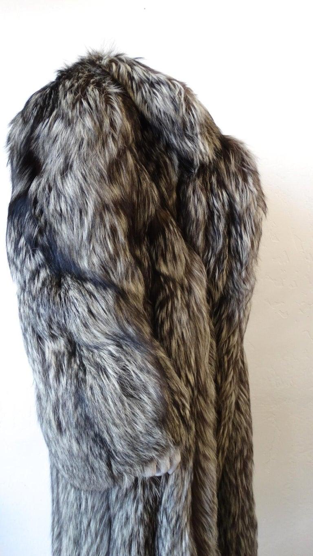 Rare 1980s James Galanos Silver Fox Fur Coat  For Sale 1