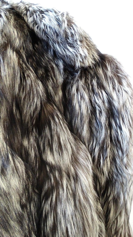 Rare 1980s James Galanos Silver Fox Fur Coat  For Sale 3