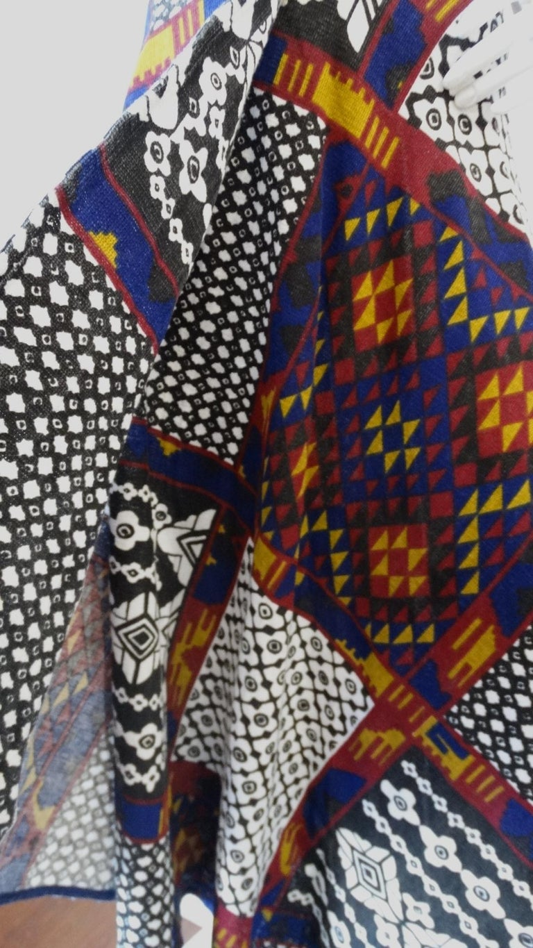 1970s Rikma Patchwork Printed Wrap Skirt  For Sale 2