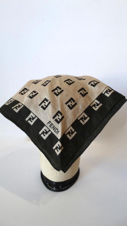 2000s Fendi Zucca Print Cotton Scarf  For Sale 1