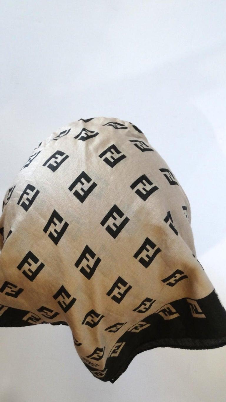 2000s Fendi Zucca Print Cotton Scarf  For Sale 3