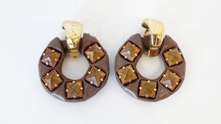 1980s Kalinger Paris Hoop Earrings  For Sale 2