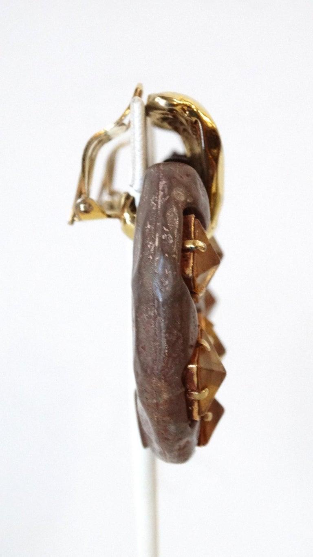 1980s Kalinger Paris Hoop Earrings  In Good Condition For Sale In Scottsdale, AZ