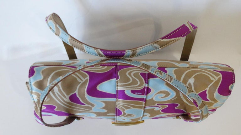 2000s Fendi Psychedelic Swirl Bag  For Sale 7