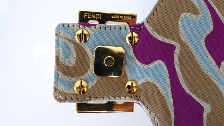 2000s Fendi Psychedelic Swirl Bag  In Excellent Condition For Sale In Scottsdale, AZ