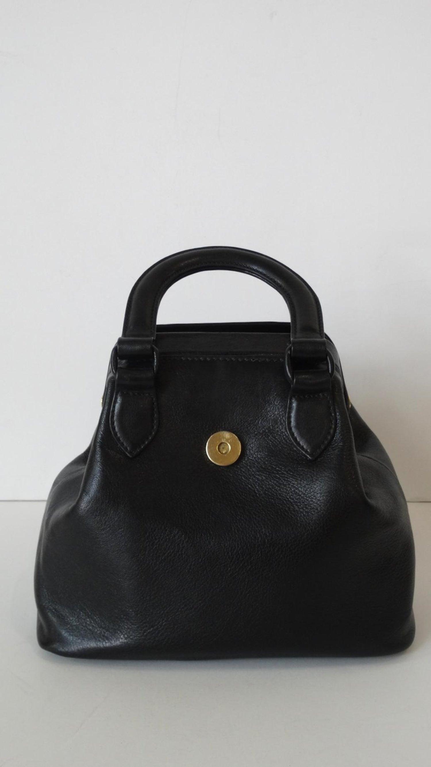 3061a4b994 1990s Gianni Versace Black Leather Handbag at 1stdibs