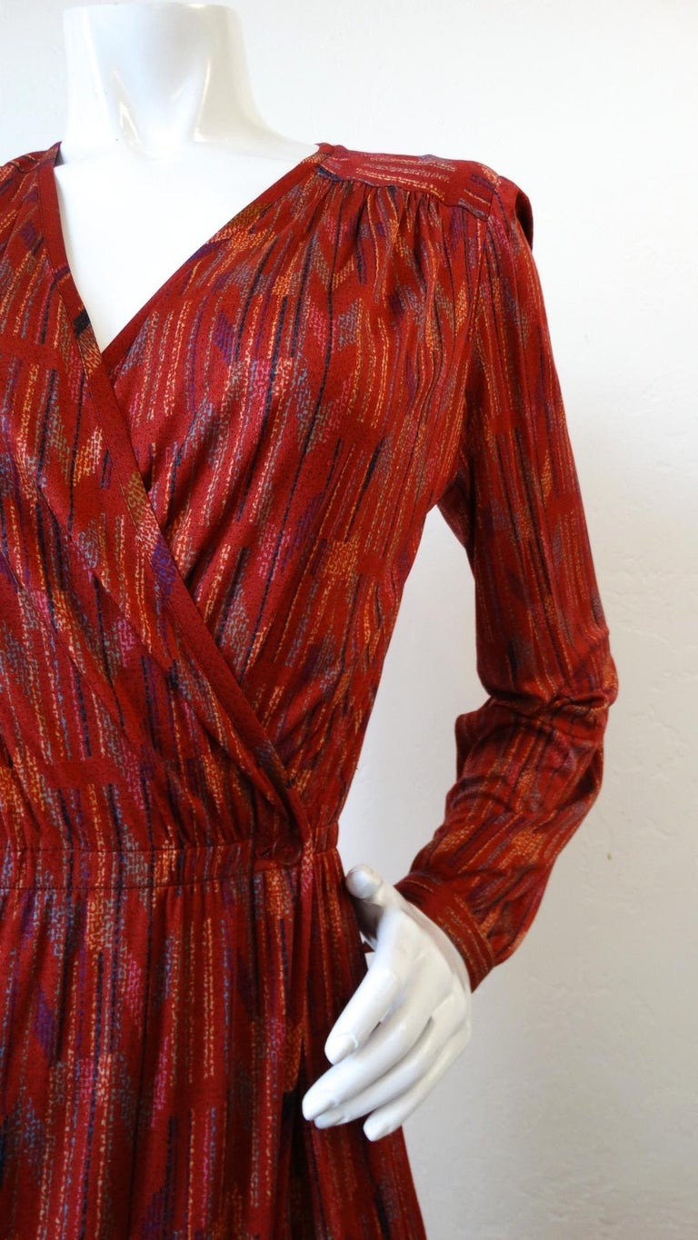 1970s Missoni Silk Wrap Dress with Rope Belt In Good Condition For Sale In Scottsdale, AZ