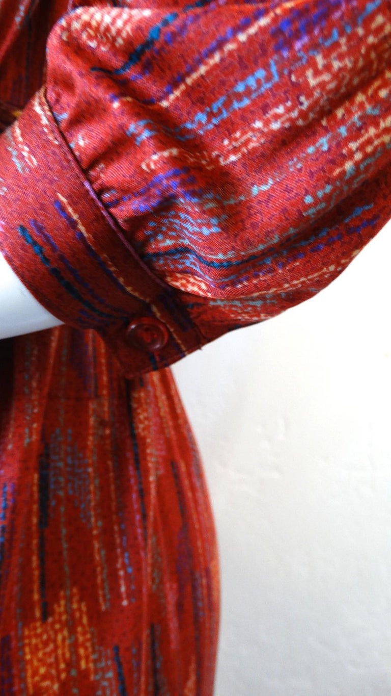 1970s Missoni Silk Wrap Dress with Rope Belt For Sale 4