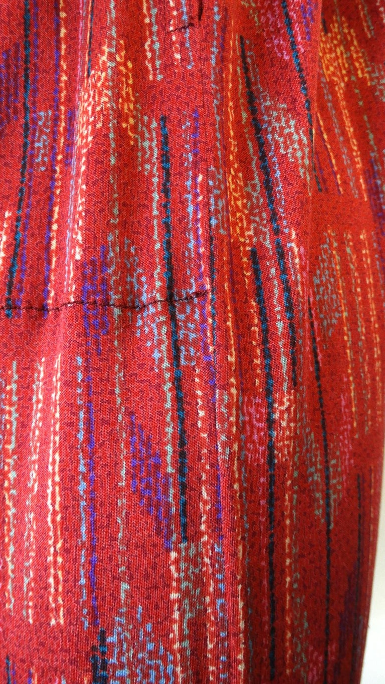 1970s Missoni Silk Wrap Dress with Rope Belt For Sale 12