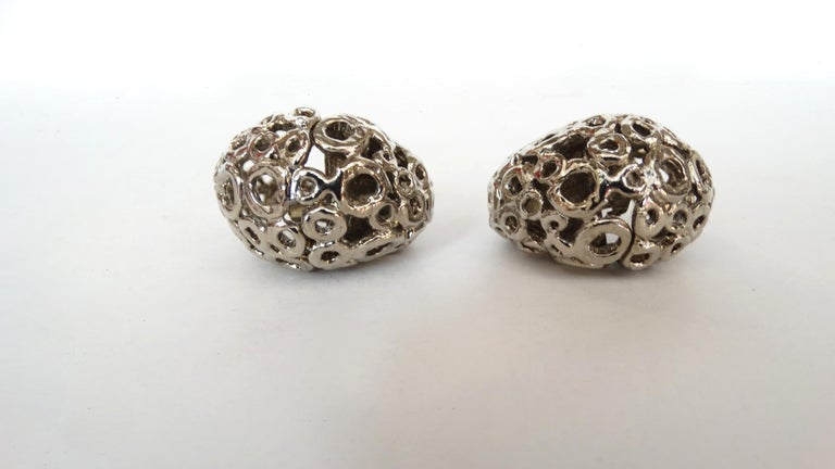 1980s Poggi Paris Statement Clip-on Earrings  For Sale 1