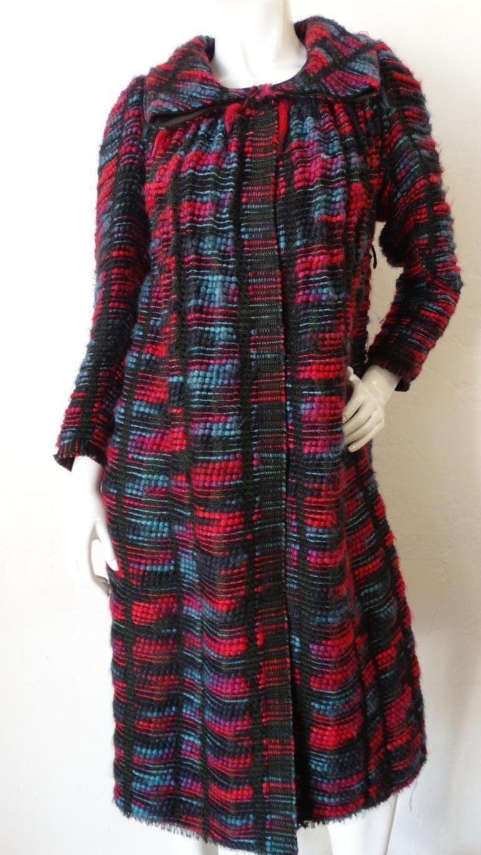 1980s Isabel Toledo Handwoven Silk Coat  For Sale 9