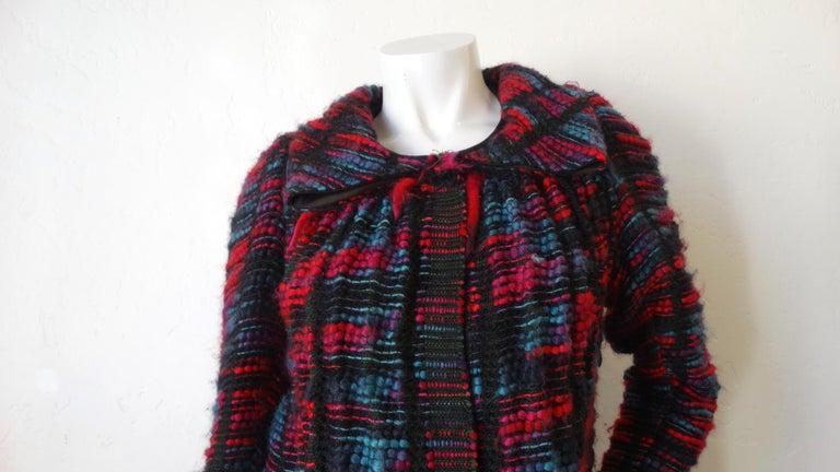 1980s Isabel Toledo Handwoven Silk Coat  In Good Condition For Sale In Scottsdale, AZ
