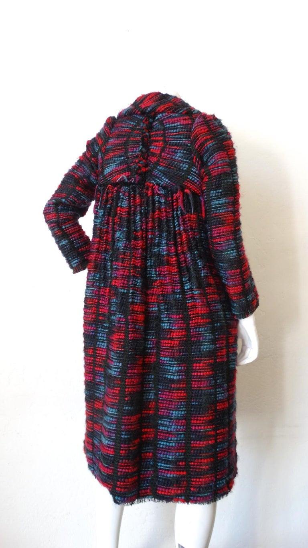 Women's 1980s Isabel Toledo Handwoven Silk Coat  For Sale