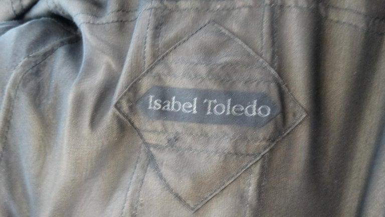 1980s Isabel Toledo Handwoven Silk Coat  For Sale 3