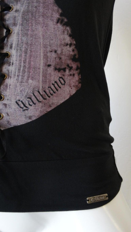 2000s John Galliano Corset Printed T-Shirt  For Sale 1