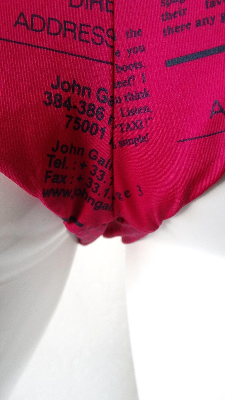 2000s John Galliano Gazette Print Bikini  For Sale 10