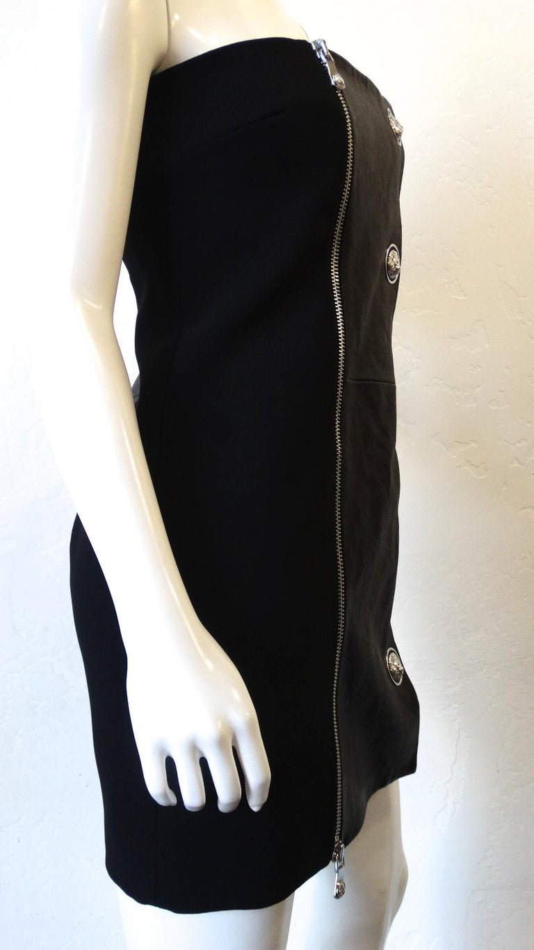 Women's 2000s Anthony Vaccarello for Versus Versace Strapless Dress For Sale