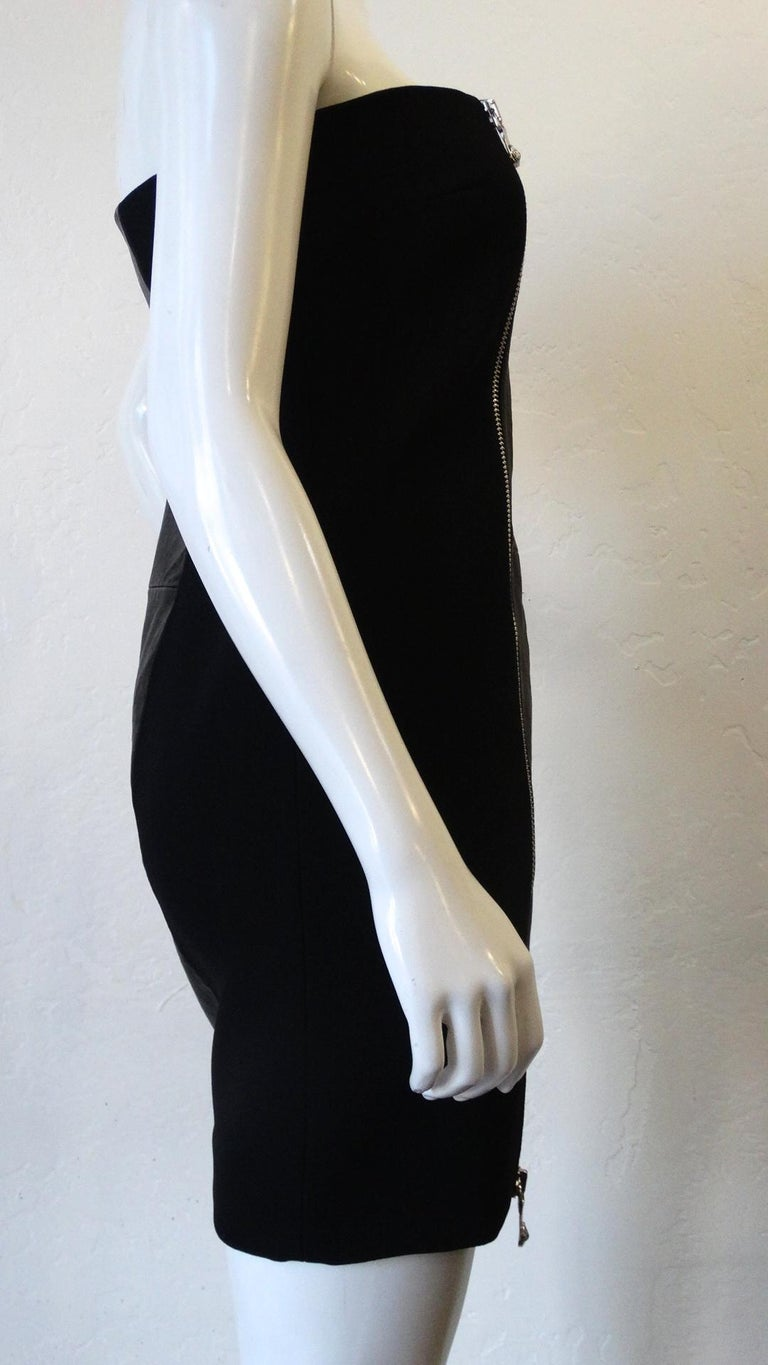2000s Anthony Vaccarello for Versus Versace Strapless Dress For Sale 8