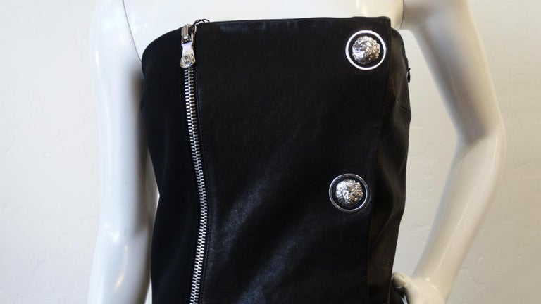 2000s Anthony Vaccarello for Versus Versace Strapless Dress For Sale 7