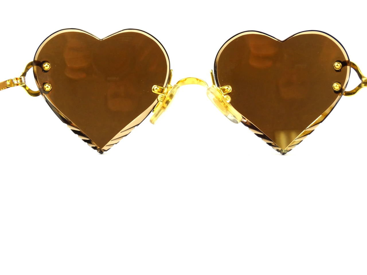 2004 Custom Cartier Amber Mirrored Heart Sunglasses 3