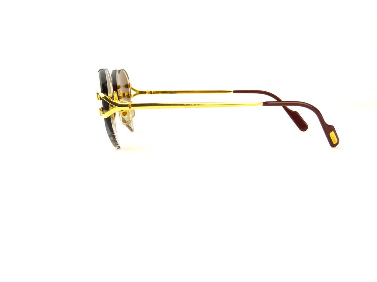 2004 Custom Cartier Amber Mirrored Heart Sunglasses 7