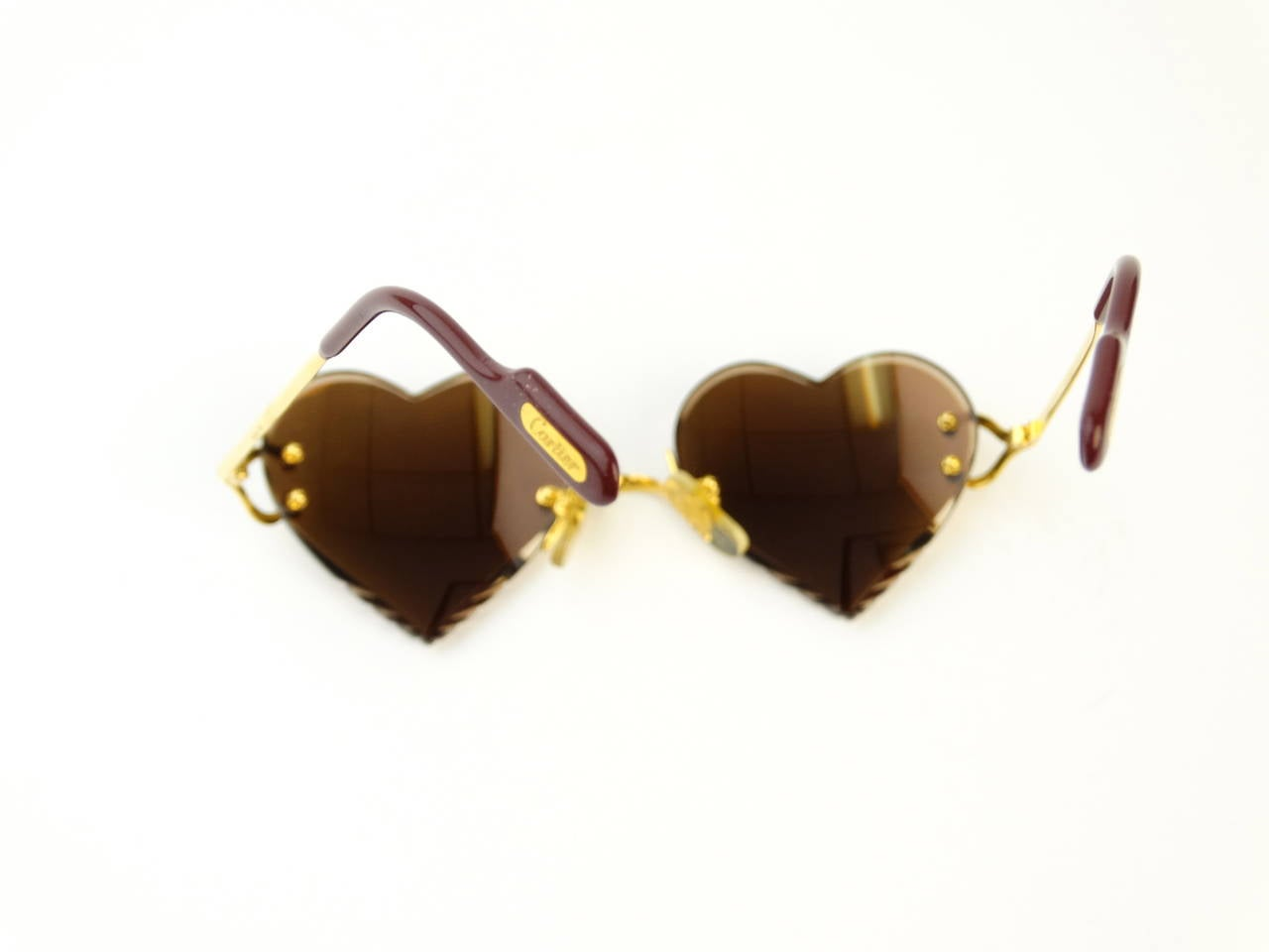 2004 Custom Cartier Amber Mirrored Heart Sunglasses 8