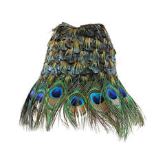 2005 Prada S/S Runway Peacock Hat