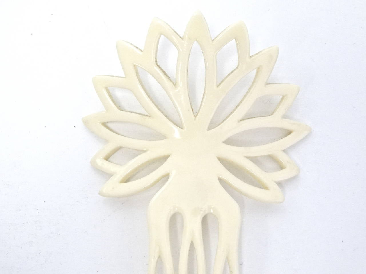1970s Yves Saint Laurent Hand Carved Hair Comb 3