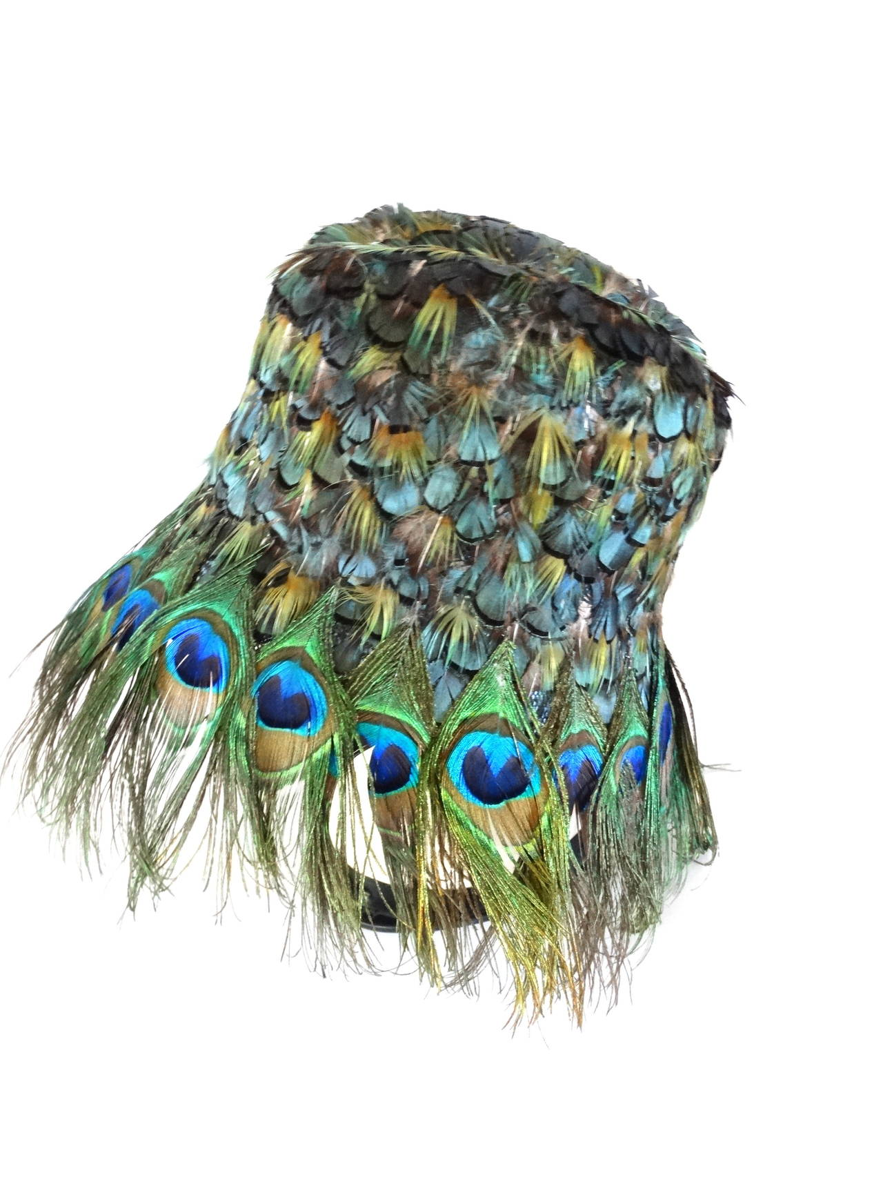 2005 prada s  s runway peacock hat at 1stdibs