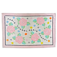 1990's Chanel Paris Camelia Beach Towel