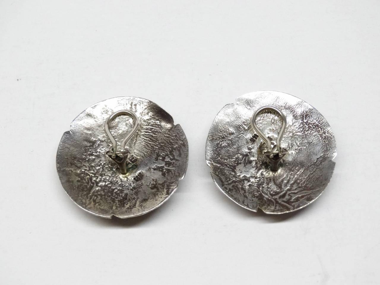JAE Jolene A Eustace Cochiti Zuni Southwestern Sterling 925 Silver 14K Gold Lapis Lazuli Clip On Earrings! Earrings stamped with