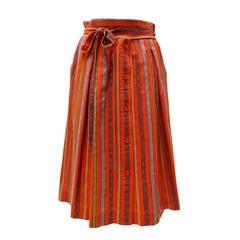 1980's Yves Saint Laurent Ethnic Striped Skirt