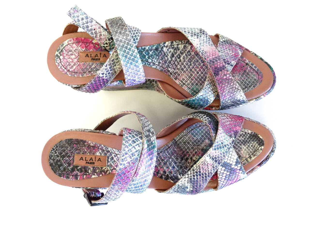 Ala 239 A Paris Quot Calzature Quot Donna Wedge In Snakeskin For Sale
