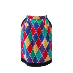 1988 Yves Saint Laurent Diamond Print Skirt