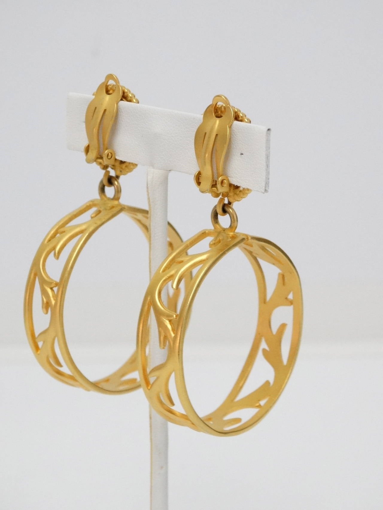 1980s Karl Lagerfeld Hoop Earrings For Sale 1