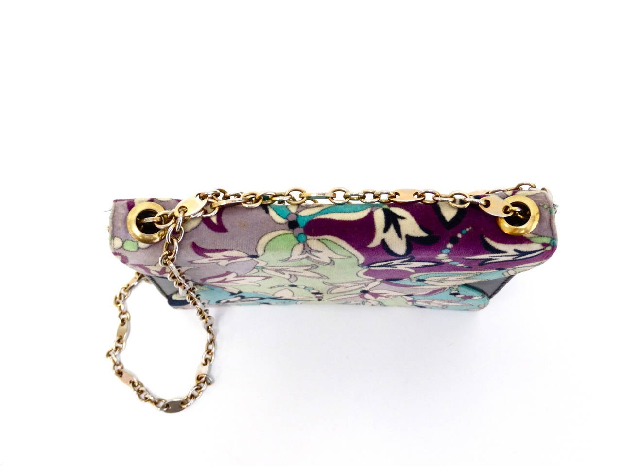 Gray 1960s Emilio Pucci Velvet  Clutch For Sale