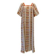 1970s Guillermina Bohemian Maxi Dress