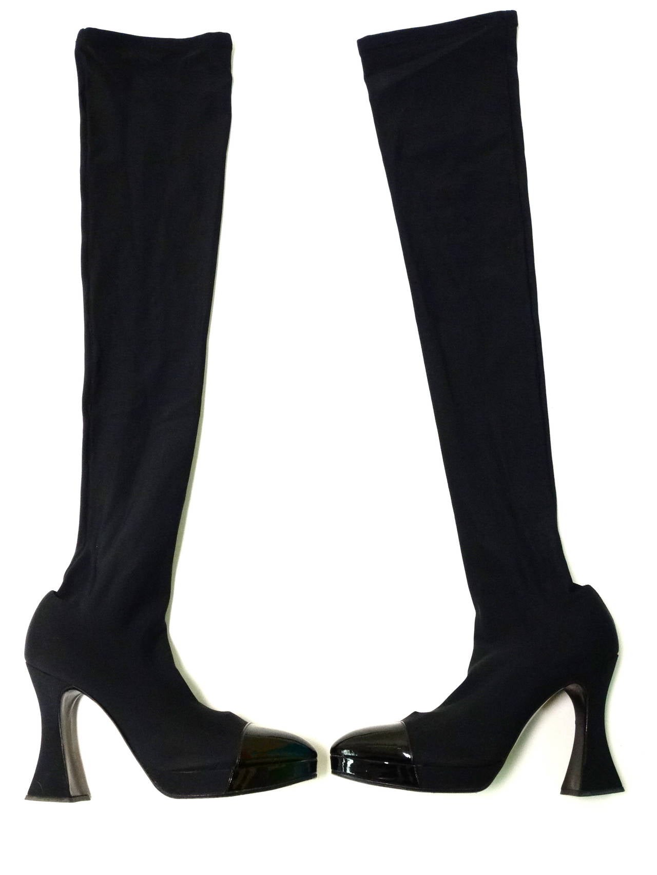 "1994 Chanel ""Vernice"" Strech Thigh High Boot 6"