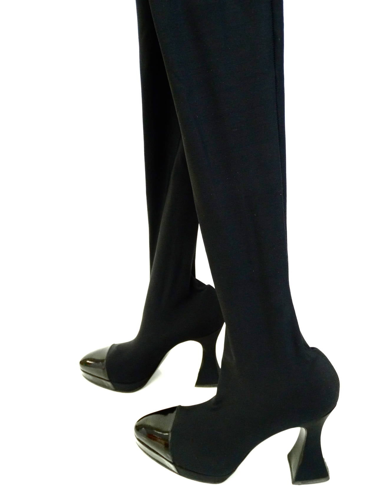 "1994 Chanel ""Vernice"" Strech Thigh High Boot 4"