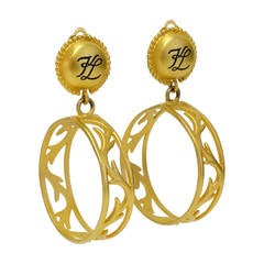 1980s Karl Lagerfeld Hoop Earrings