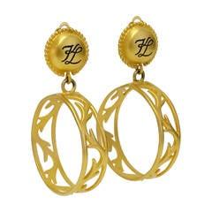 1980s Karl Lagerfeld Hoop Earrings